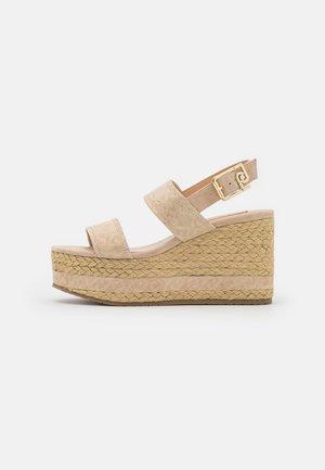 BELLA  WEDGE - Platform sandals - camel
