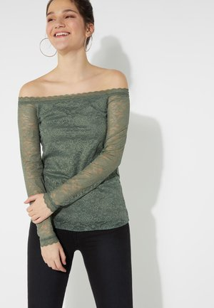 OFF-SHOULDER - Top - light military