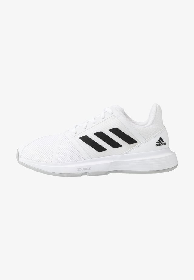 COURTJAM BOUNCE - All court tennisskor - footwear white/core black/metallic silver