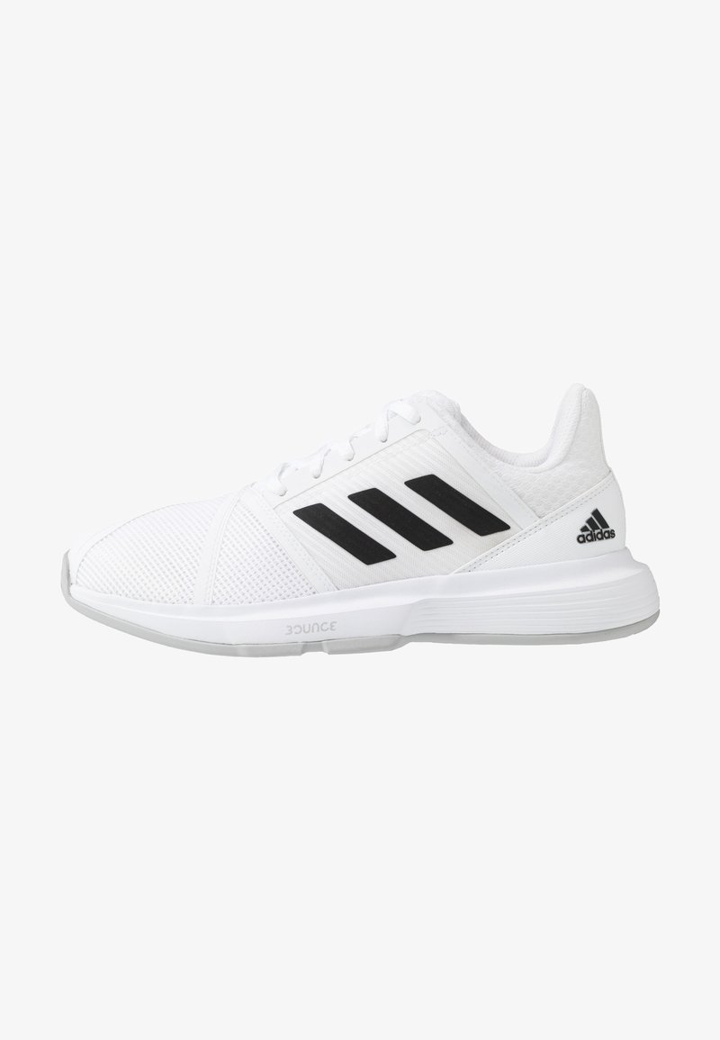 adidas Performance - COURTJAM BOUNCE - Multicourt tennis shoes - footwear white/core black/metallic silver