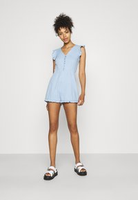 Missguided - BACKLESS - Overal - blue - 1