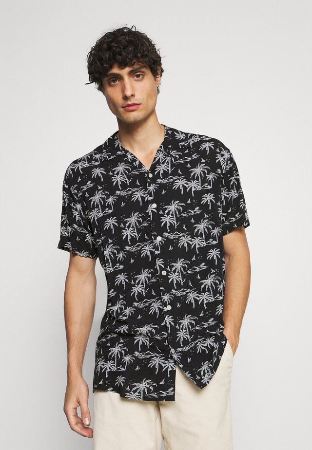 CUBA TROPICAL - Camisa - black/white