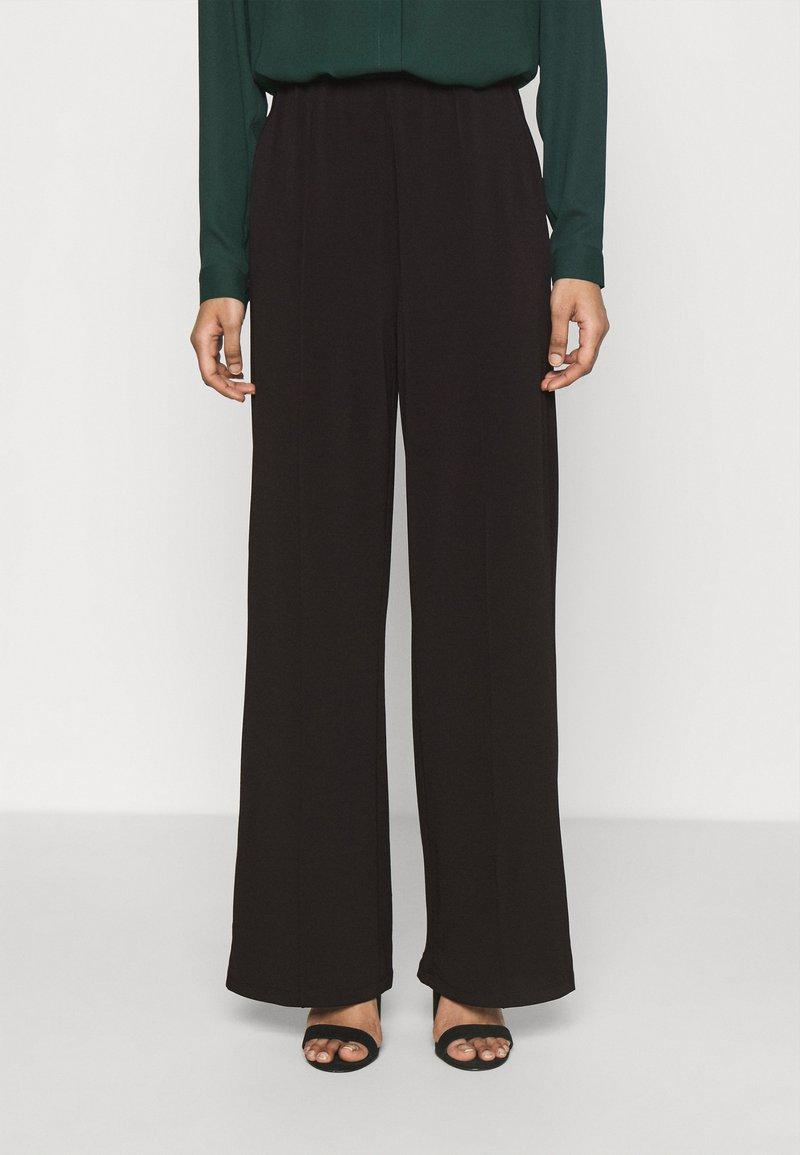Vero Moda - VMALBERTA DETAIL PANT  - Trousers - black