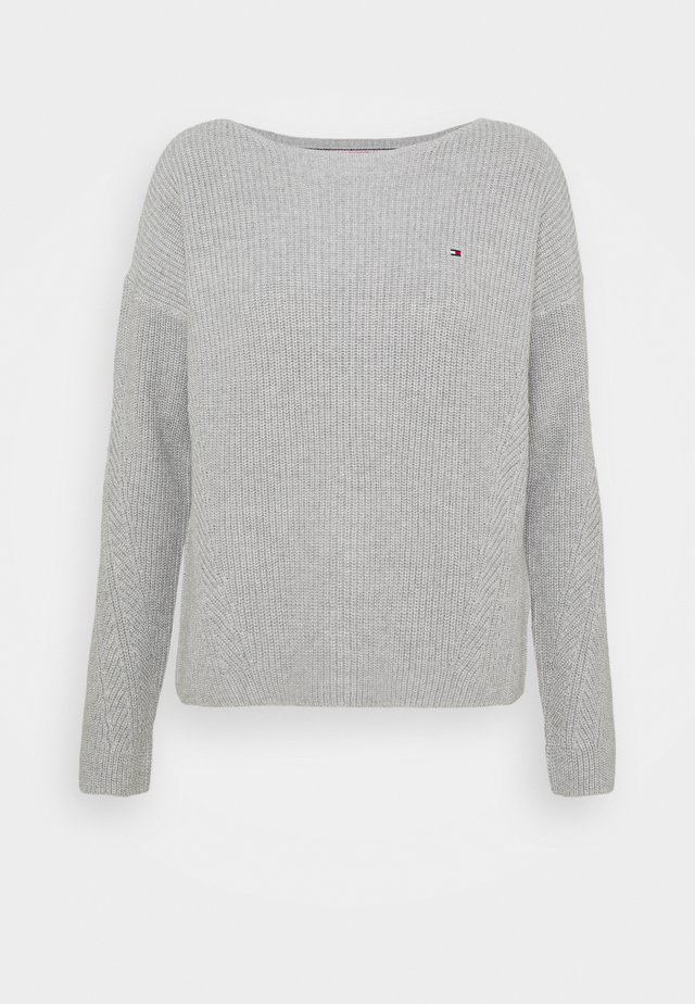 HAYANA BOATNECK - Sweter - light grey heather
