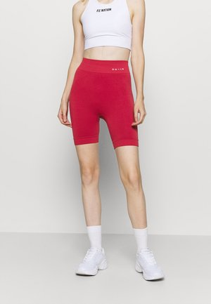 HIGH WAIST COMPRESSION SHORTS - Medias - red