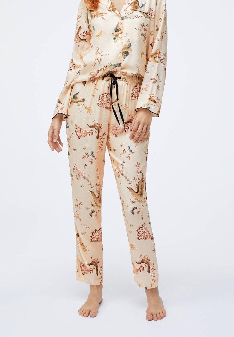 OYSHO - Nattøj bukser - beige
