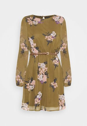 VMNEWALLIE BELT SHORT DRESS - Kjole - beech/newallie
