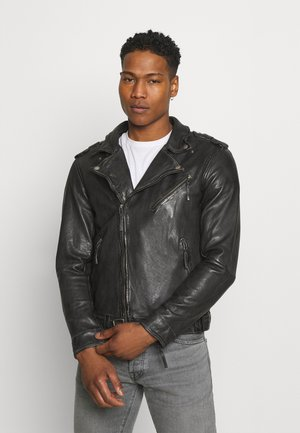 UNISEX COLTRANE - Leather jacket - black