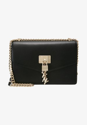 ELISSA SHOULDER - Axelremsväska - black/gold