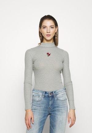 SLIM MOCKNECK - Long sleeved top - grey