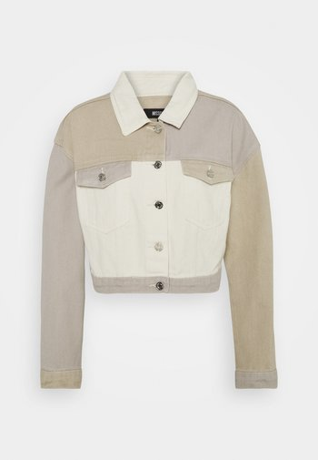 PATCHED CROPPED JACKET  - Denim jacket - brown
