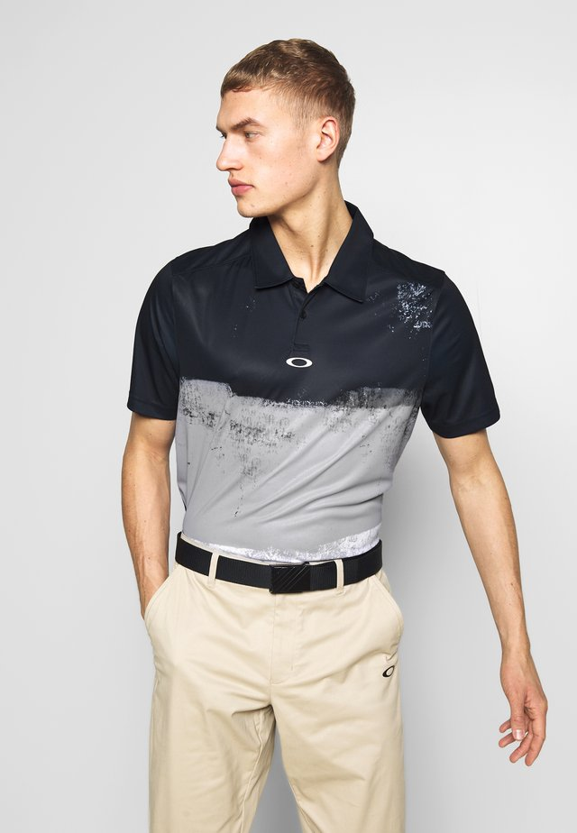 COLOR BLOCK SHADE - Poloshirt - blackout
