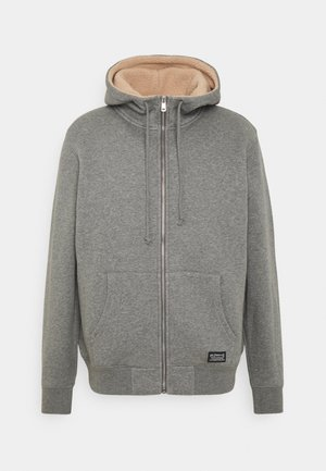 LINED ZIP UP - Summer jacket - medium grey heather