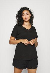 Zizzi - EFANNEY TEE - Basic T-shirt - black - 0