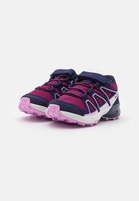 Salomon - SPEEDCROSS BUNGEE UNISEX - Hiking shoes - plum caspia/evening b/orchid - 1