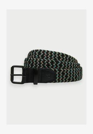 Braided belt - multi-coloured