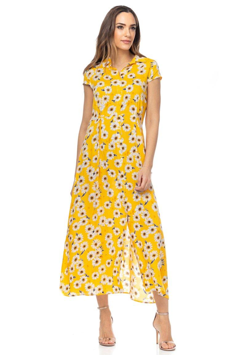 Tantra - MIT GÄNSEBLÜMCHENMUSTER - Shirt dress - amarillo