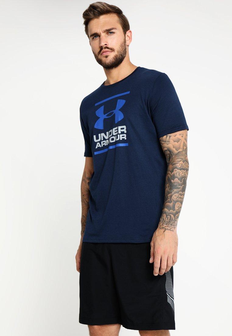Under Armour - FOUNDATION - Print T-shirt - academy/steel/royal