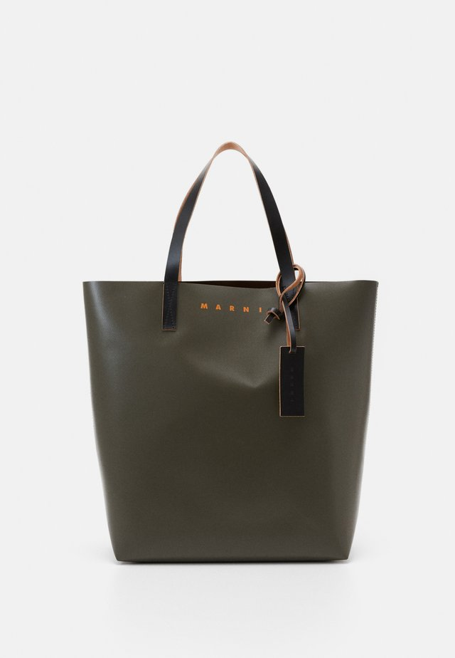 Shopping bag - mosstone/coffee/black