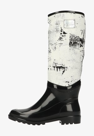 Laarzen - schwarz/weiß