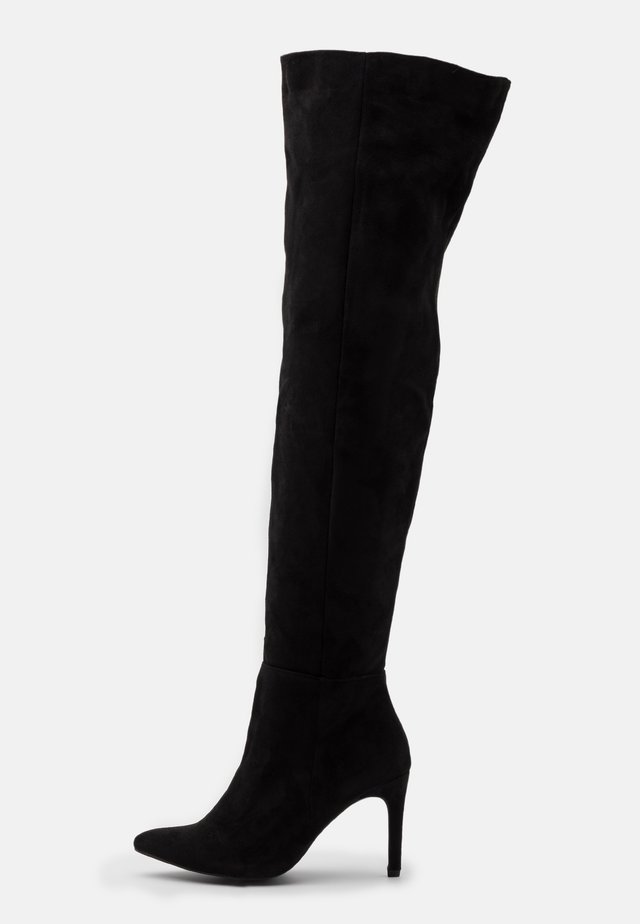 MID HEEL OVER THE KNEE BOOTS - High heeled boots - black