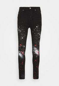 Good For Nothing - DARK RIPPED WITH PAINT - Jeansy Skinny Fit - black - 0