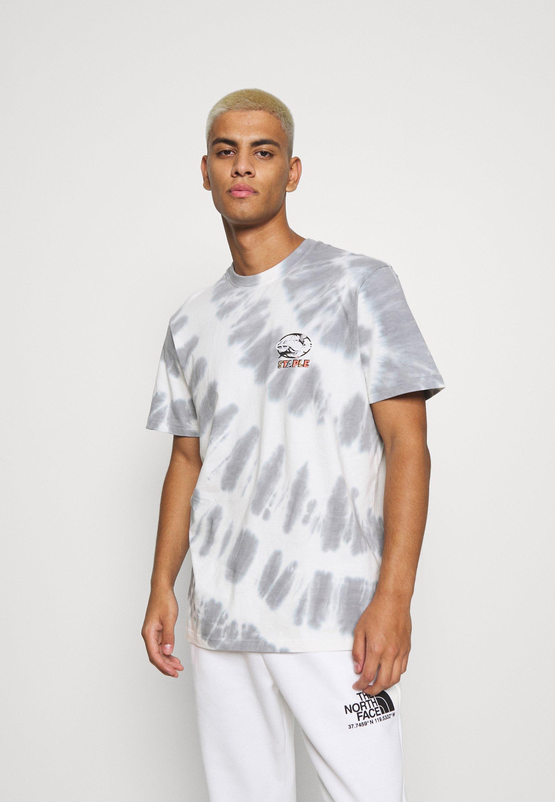 Men TIE DYE GLOBE LOGO ICON TEE UNISEX - Print T-shirt