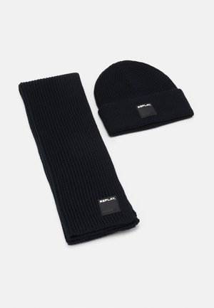 HAT SCARF SET - Sjaal - dark blue