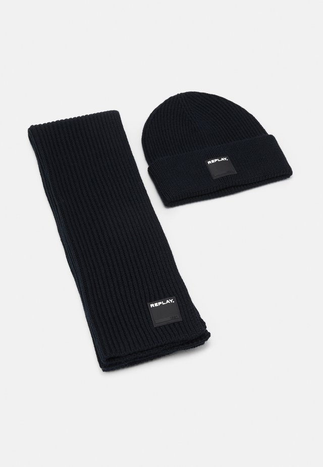 HAT SCARF SET - Halsduk - dark blue