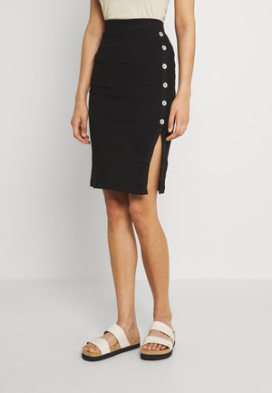 VMPOLLY BUTTON SKIRT VIP - Pencil skirt - black
