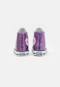 Converse - CHUCK TAYLOR ALL STAR COATED GLITTER - High-top trainers - bold pink/white/black - 2