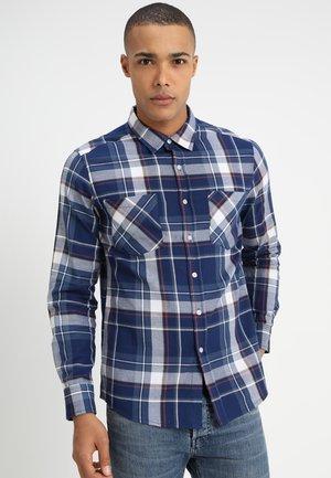 CHECK - Shirt - indigo/white/red/goldenoak