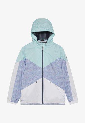 MAELEE - Regenjas - turquoise/grey/white