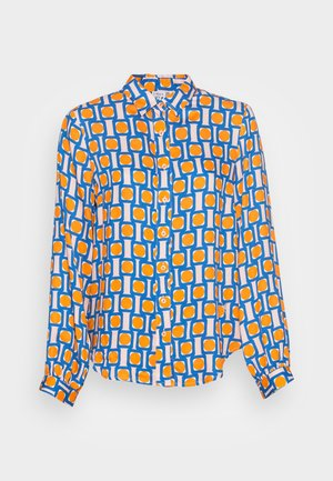 BLOUSE - Chemisier - orange/nude/blue