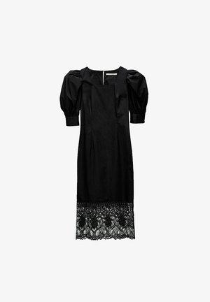 BLACK GUIPURE LACE DRESS  - Cocktail dress / Party dress - black
