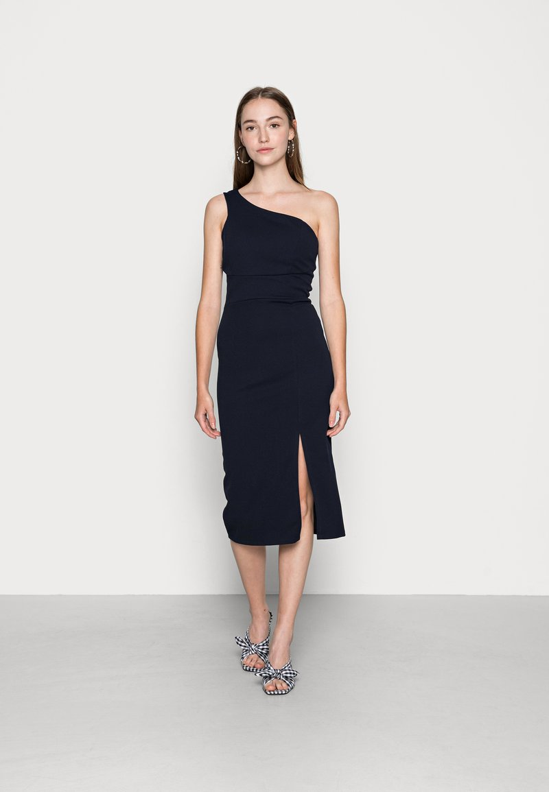 WAL G. - PIYA ONE SHOULDER MIDI DRESS - Cocktail dress / Party dress - navy blue