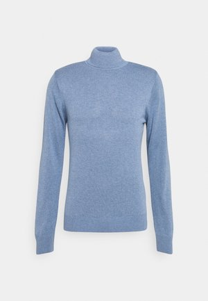 SLIM FIT TURTLE NECK SWEATER - Pullover - steel blue