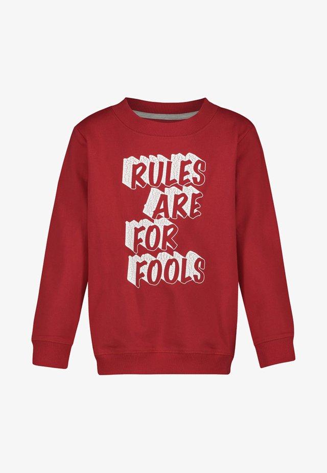 BOULDER - Sweatshirt - red