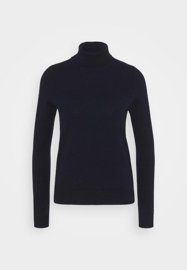 Stickad tröja - navy