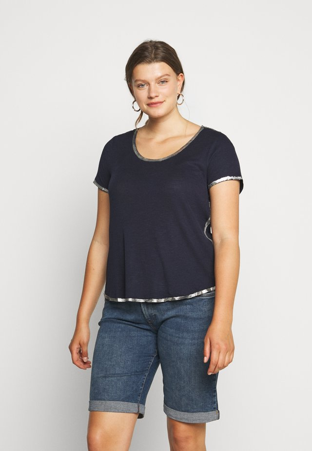 SCOOP TEE - T-shirt imprimé - dark blue