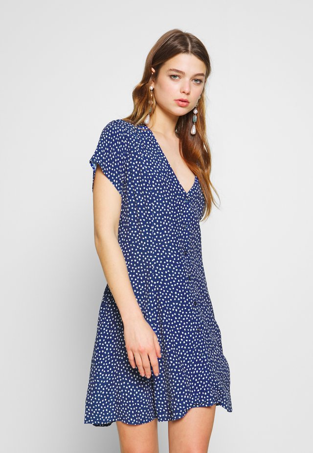 MILLA TULIPS DRESS - Shirt dress - marine blue
