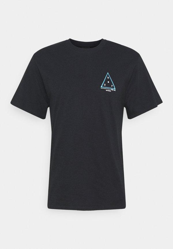 HUF MOONS TEE - T-shirt z nadrukiem - black/czarny Odzież Męska WGYM