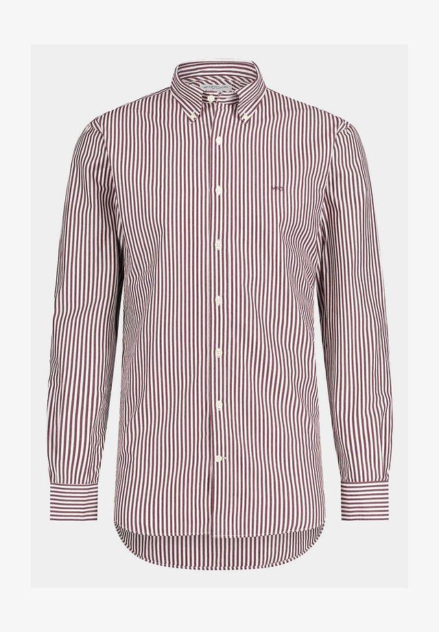 REGULAR FIT  WITH BAR STRIPE  - Zakelijk overhemd - port red