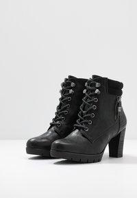 TOM TAILOR - Kotníková obuv - black - 4