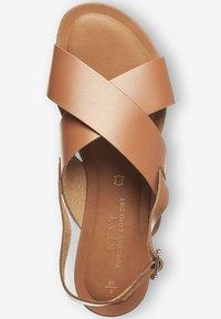Next - FOREVER COMFORT® CROSS FRONT SLINGBACKS - Sandals - brown - 0