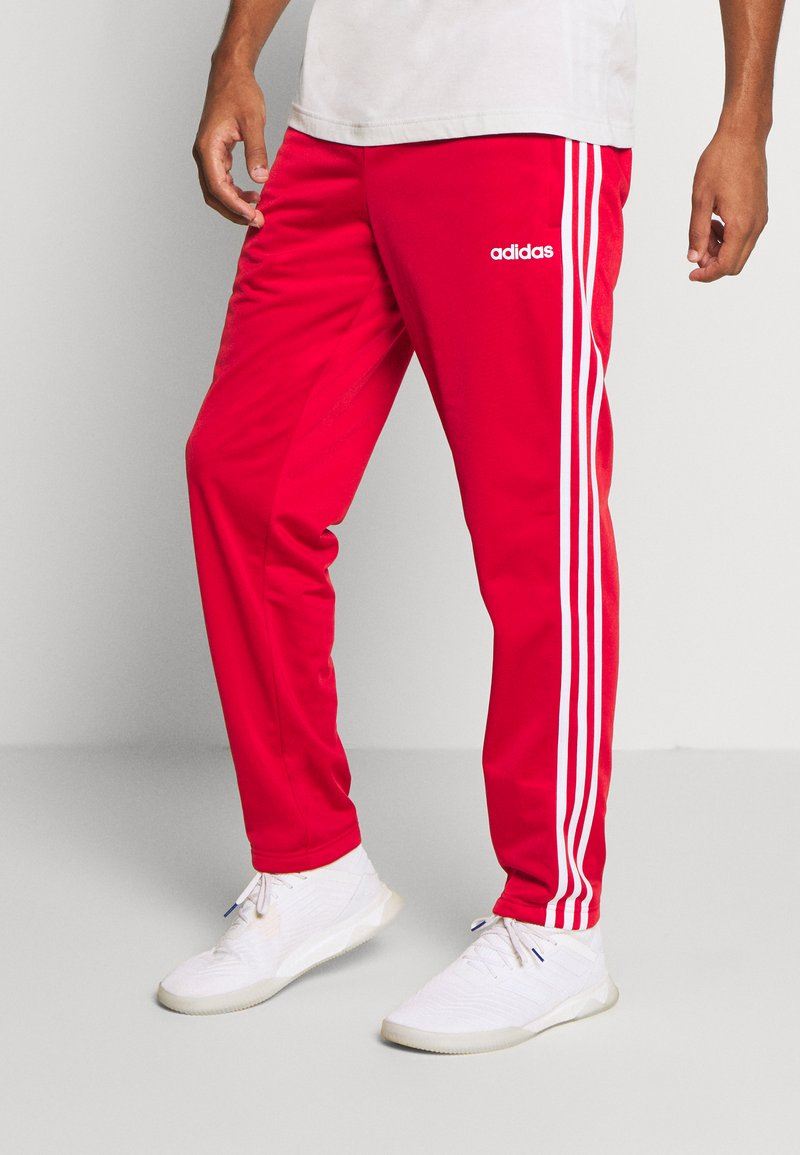 adidas Performance - 3 STRIPES SPORTS REGULAR PANTS - Teplákové kalhoty - scarlett/white