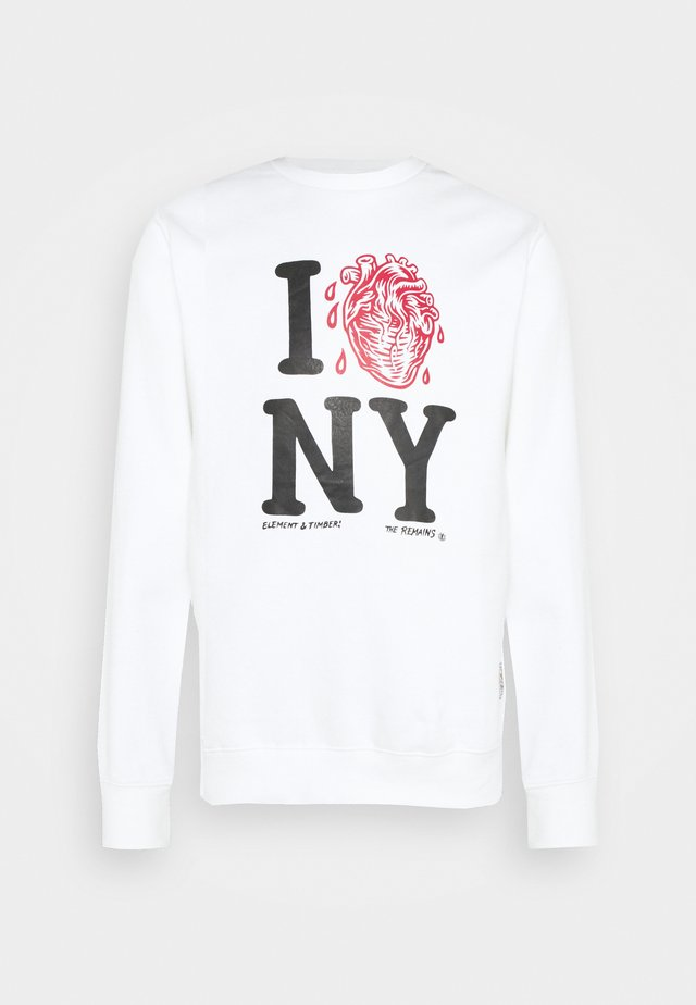 I HEART CREW - Sweatshirt - optic white