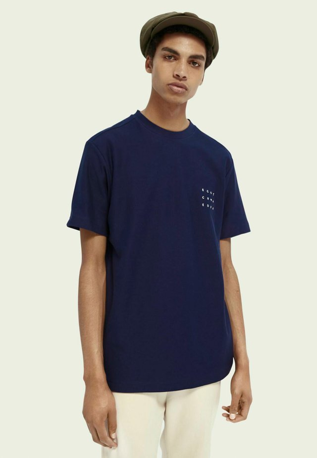 TWILL STRUCTURED - Print T-shirt - midnight