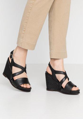 MIRELA - High heeled sandals - black