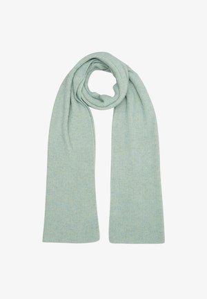 Scarf - light green knit